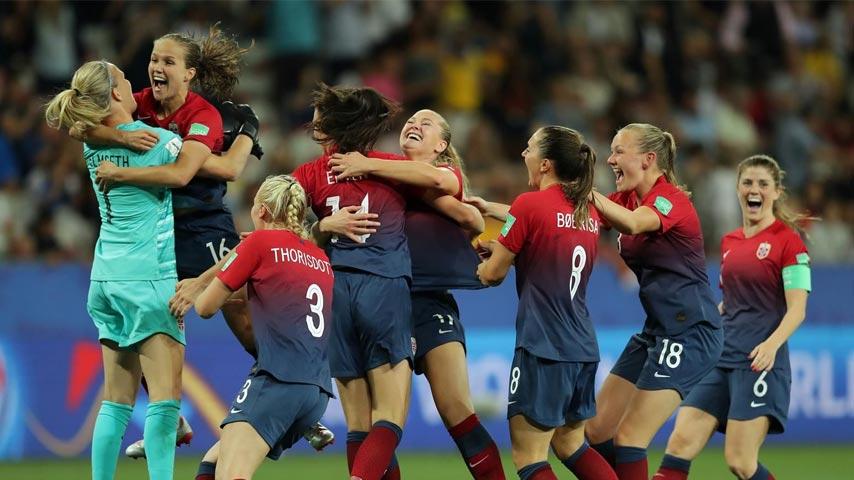 ฟุตบอลโลกหญิง : นอร์เวย์ W VS ออสเตรเลีย W